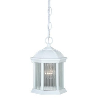 "Kingston Aluminum 6-1/4"" Outdoor Pendant Textured White"