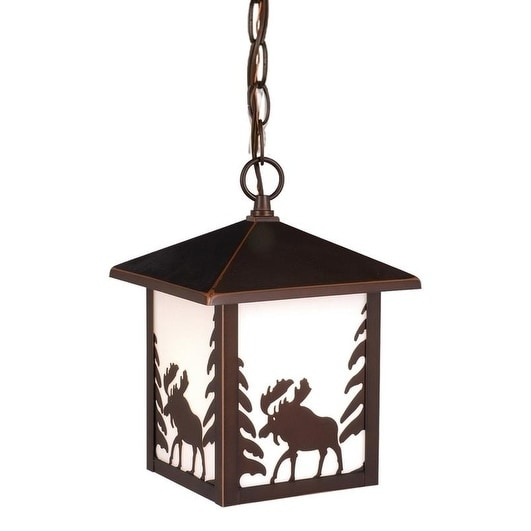 """Vaxcel Yellowstone 8"""" Outdoor Pendant Burnished Bronze"""