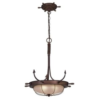 "Vaxcel Orleans 19"" Pendant Antique Red Copper"