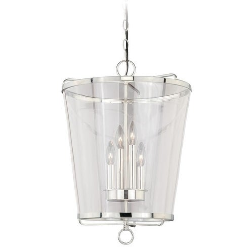 "630 Series 16-1/2"" Pendant Polished Nickel w/Clear Glass"
