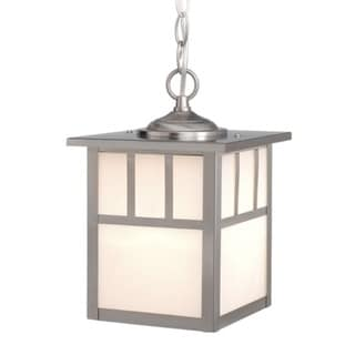 """Mission-Shaker 7"""" Outdoor Pendant Stainless Steel"""