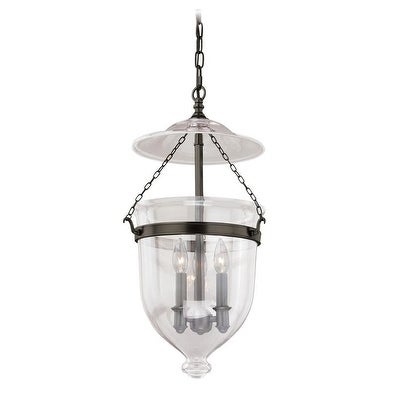 """Vaxcel 630 Series 12-3/4"""" Pendant New Bronze w/Clear Glass"""