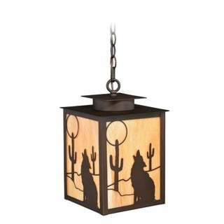 """Vaxcel Calexico 9"""" Outdoor Pendant Burnished Bronze"""