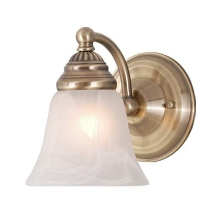 Standford 1 Light Brass Bathroom Wall Fixture - 5.25-in W x 7-in H x 7-in D