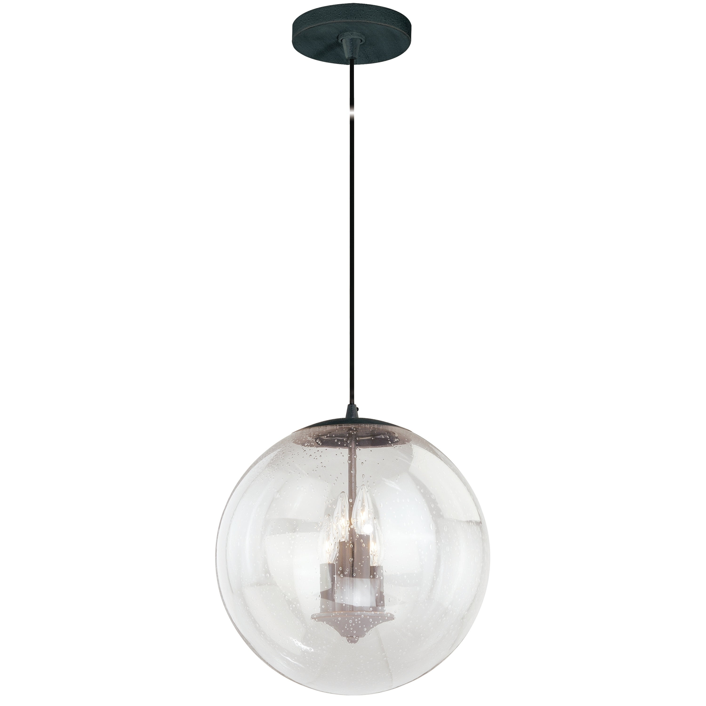 Shop Black Friday Deals On 4 Light Black Mid Century Modern Globe Pendant Clear Glass 15 75 In W X 16 75 In H X 15 75 In D Overstock 20907337