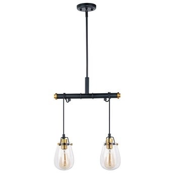 Vaxcel Kidy 2l Dual Mount Pendant Wall Light Black And Natural Br Free Shipping Today 20907342