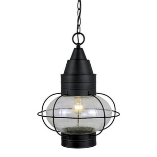 """Vaxcel Chatham 13"""" Outdoor Pendant Textured Black"""