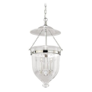 "Vaxcel 630 Series 12-3/4"" Pendant Polished Nickel w/Clear Glass"