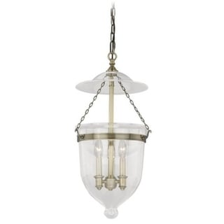 "Vaxcel 630 Series 12-3/4"" Pendant Antique Brass w/Clear Glass"
