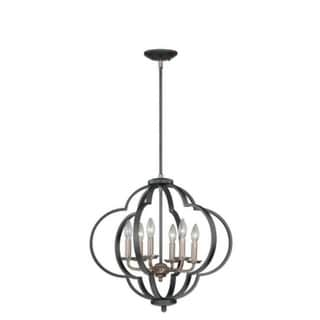 Vaxcel Amory 6L Pendant Muted Copper and New Bronze