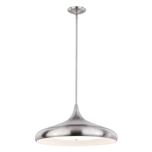 "Vaxcel Bacio Instalux® 21"" LED Pendant Satin Nickel"