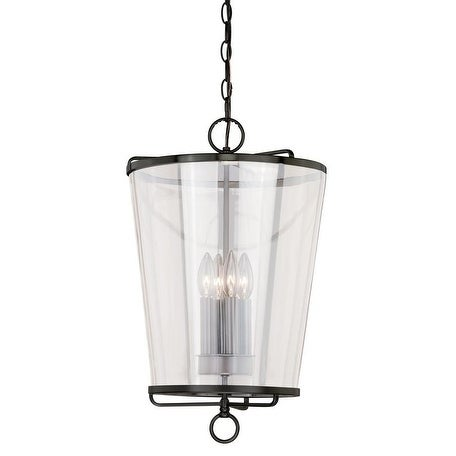 """Vaxcel 630 Series 13-1/2"""" Pendant New Bronze w/Clear Glass"""
