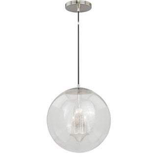 """630 Series 15-3/4"""" Pendant Polished Nickel Clear Seeded Glass"""