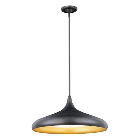 Bacio LED Bronze Motion Sensor Dome Pendant Light - 21-in W x 16-in H x 21-in D