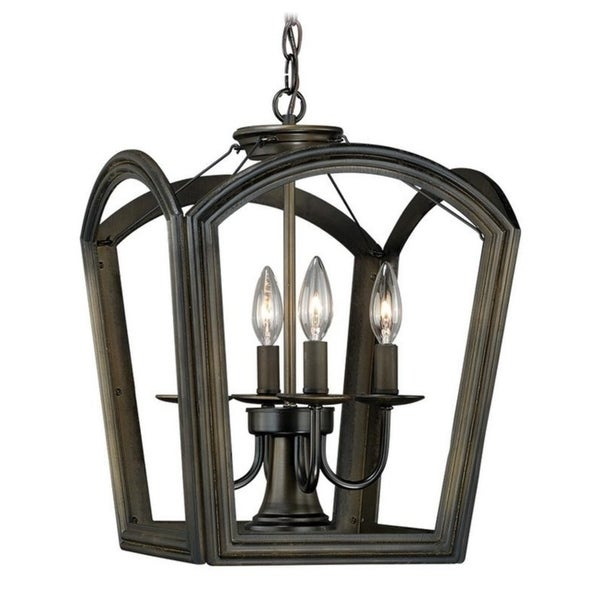 Vaxcel Canterbury 4L Pendant Oil Rubbed Bronze