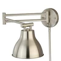 Swing Arm LED Wall Light Satin Nickel
