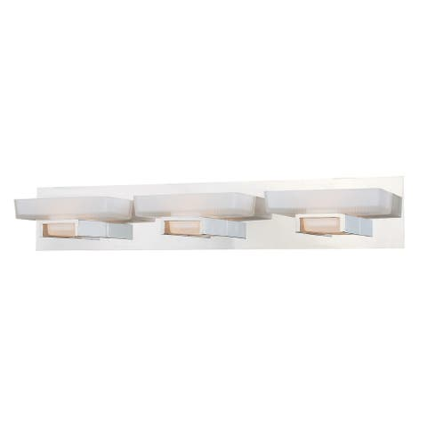 Gatsby 3 Light Nickel Bathroom Vanity Fixture - 29-in W x 5-in H x 5-in D