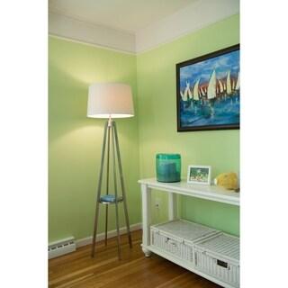Perkins Floor Lamp Satin Nickel