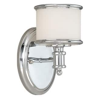 Carlisle 1 Light Chrome Bathroom Wall Fixture - 5.75-in W x 8-in H x 7.5-in D