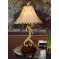 "Vaxcel Lodge 16"" Table Lamp Noachian Stone"
