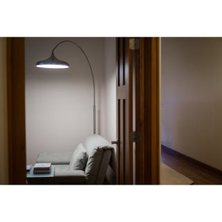 Bacio Instalux® LED Arc Lamp Satin Nickel