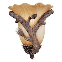 "Vaxcel Aspen 13"" Wall Sconce Pine Tree"