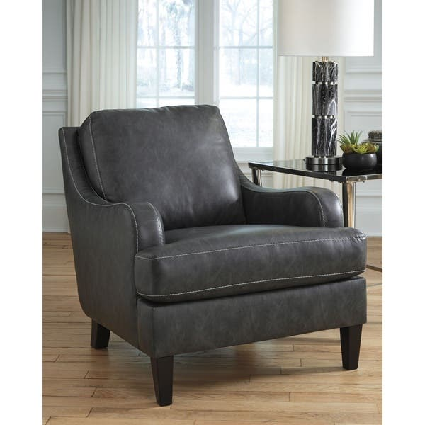 Miraculous Shop Tirolo Casual Black Faux Leather Accent Chair On Sale Ibusinesslaw Wood Chair Design Ideas Ibusinesslaworg