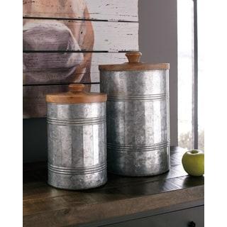 Divakar Decorative Jar - Set of 2
