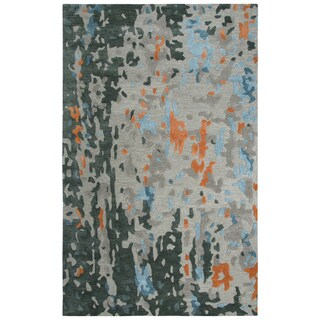 """Link to Mod Taupe Abstract Shag Area Rug - 18"""" x 18"""" Similar Items in Rugs"""
