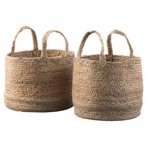 """Brayton Basket - Set of 2 - 14"""" W x 14"""" D x 11"""" H ; 12"""" W x 12"""" D x 10"""" H"""