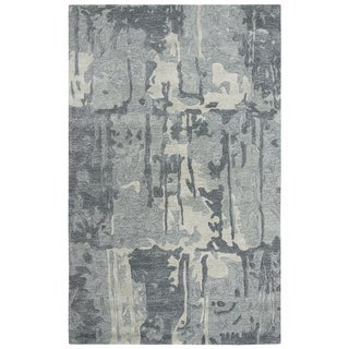 """Link to Porch & Den Juliet Grey Abstract Shag Area Rug - 18"""" x 18"""" Similar Items in Rugs"""