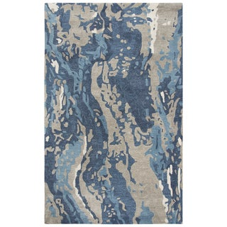 """Link to Mod Blue Abstract Shag Area Rug - 18"""" x 18"""" Similar Items in Rugs"""