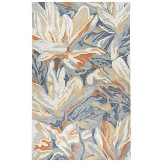"""Link to Porch & Den Juniper Blue Abstract Floral Shag Area Rug - 18"""" x 18"""" Similar Items in Rugs"""