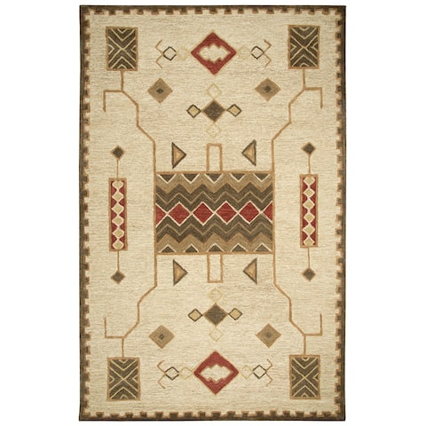 "Mesa Gold Southwest/Tribal Shag Area Rug - 18"" x 18"""