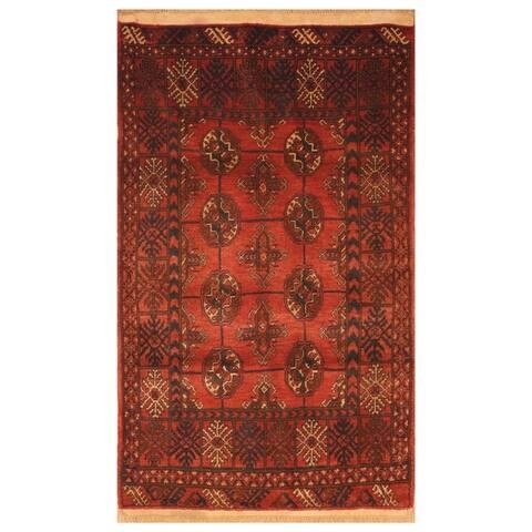 Handmade One-of-a-Kind Balouchi Wool Rug (Afghanistan) - 2'11 x 4'8