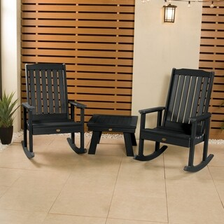 2 Lehigh Rocking Chairs with 1 Adirondack Side Table