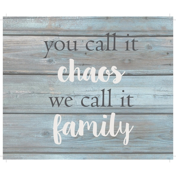 "You call it chao's we cal it family - Wash out Grey background 10"" x 12"" - 10 x 12"