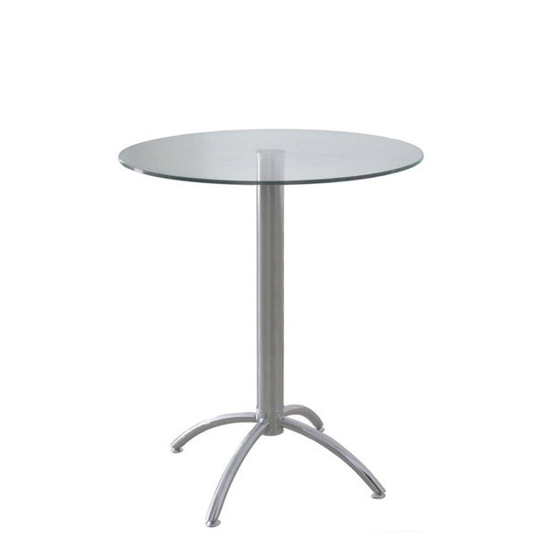 Definition Of Round Table.Whiteline Modern Living S Betty Round Bar Table With 7 16 Inch Tempered Clear Glass Top And Chrome Base