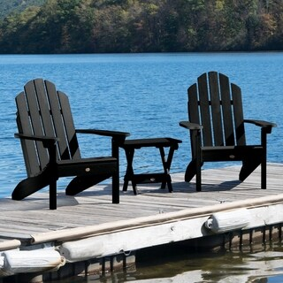2 Classic Westport Adirondack Chairs with 1 Folding Side Table