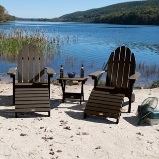 2 Essential Adirondack Chairs Folding Side Table Ottomans 5 Options Available