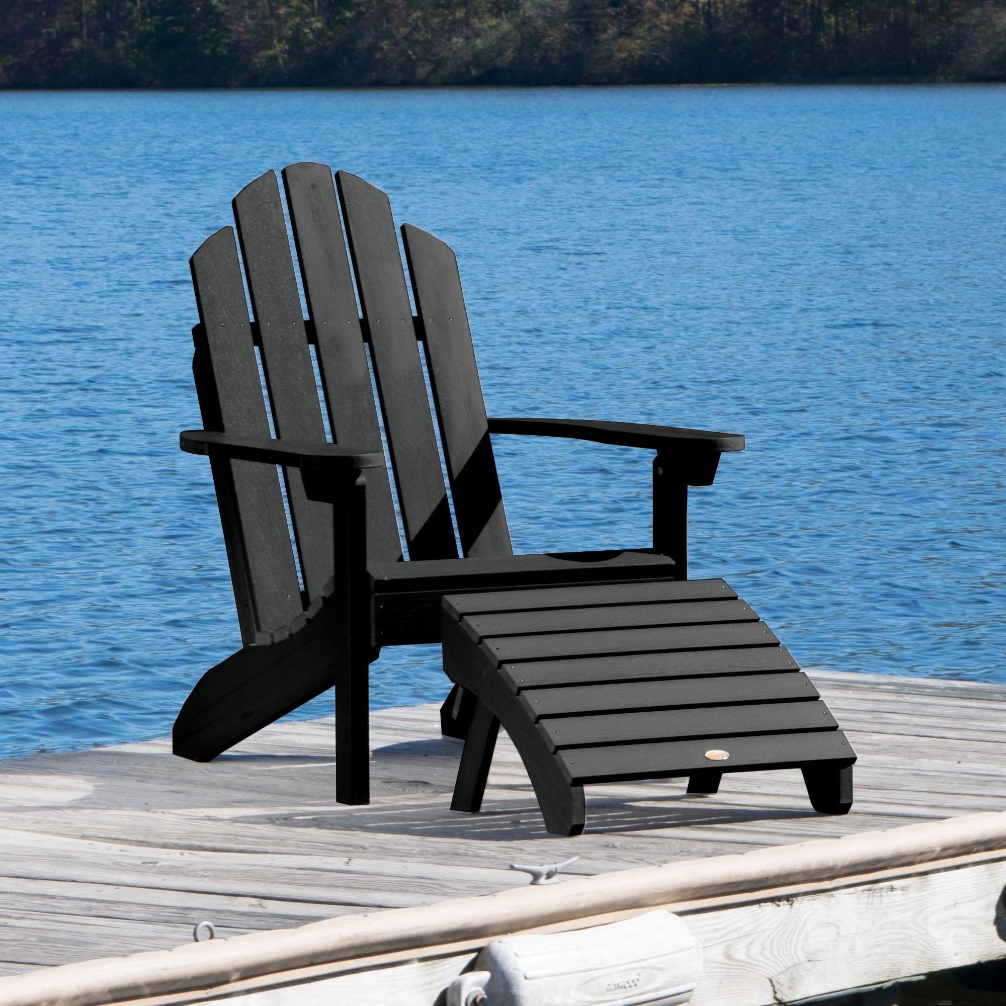 1 Classic Westport Adirondack Chair With 1 Folding Ottoman