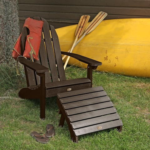 1 Essential Adirondack Chair with 1 Folding Ottoman
