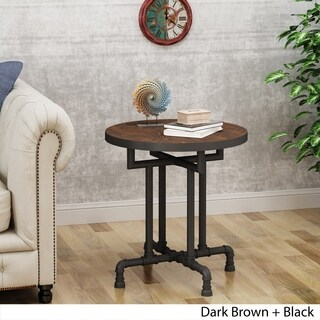 Westleigh Industrial Faux Wood End Table by Christopher Knight Home