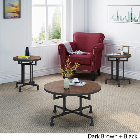 Westleigh Industrial Faux Wood Coffee and End Table Set by Christopher Knight Home