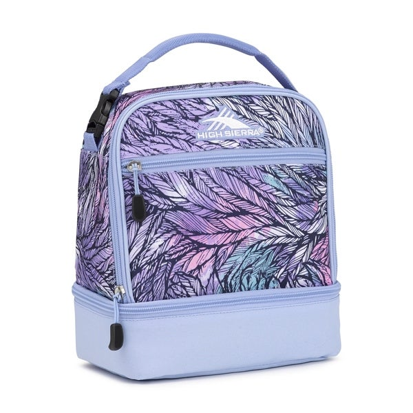 f0c6c92c0a8916 High Sierra Stacked Compartment Lunch Bag, Feather Spectre/Powder Blue