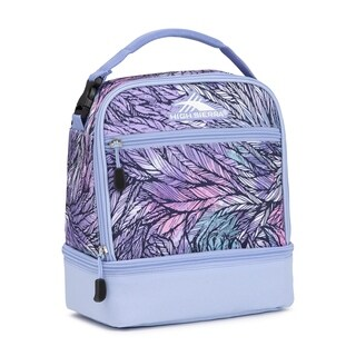 High Sierra Stacked Compartment Lunch Bag, Feather Spectre/Powder Blue