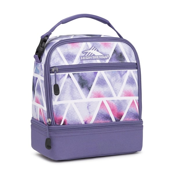 High Sierra Stacked Compartment Lunch Bag Dreamscape Purple Smoke
