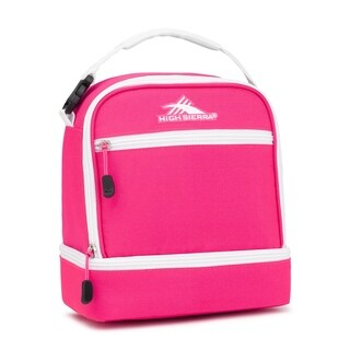 High Sierra Stacked Compartment Lunch Bag, Flamingo/White