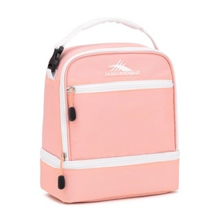 High Sierra Stacked Compartment Lunch Bag, Sand Pink/White