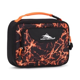 High Sierra Single Compartment Lunch Bag, Fireball/Black/Electric Orange